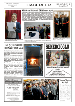 HABERLER - İvrindi Gazetesi