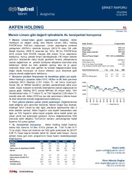 akfen holdıng - Yapı Kredi Yatırım