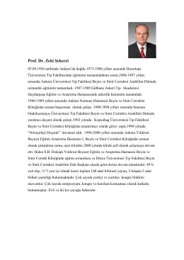 Prof. Dr. Zeki Şekerci
