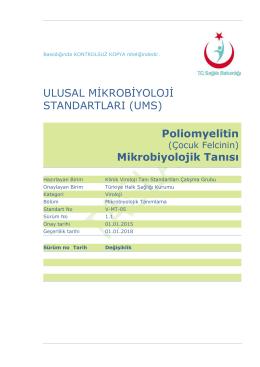 Poliomyelit - Türkiye Halk Sağlığı Kurumu
