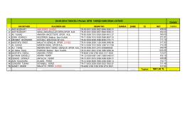 5961,92 TL 28-09-2014 TUNCELİ /Pertek MTB YARIŞI HARCIRAH