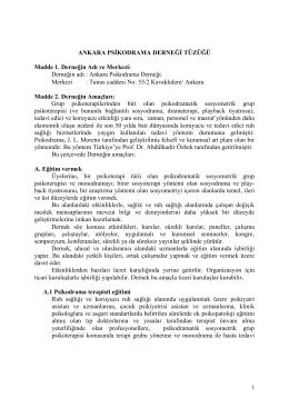 tüzük - Ankara Psikodrama Derneği