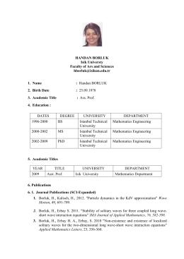 Sayı: B - Işık Üniversitesi
