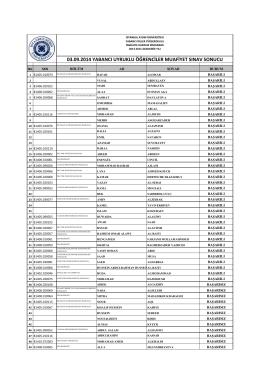 3 Eylül 2014 Muafiyet Sınavı Sonuçları İÇİN TIKLAYIN
