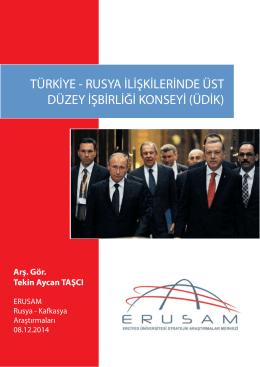 Rusya İlişkilerinde Üst Düzey İşbirliği Konseyi (ÜDİK)