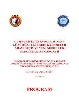 PROGRAM - Atatürk Araştırma Merkezi