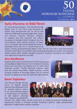 Açılış Oturumu ve Ödül Töreni Ana Konferans Basın Toplantısı