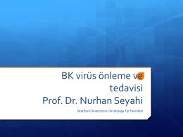 BK virüs önleme ve tedavisi Prof. Dr. Nurhan Seyahi