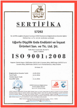 ISO 9001 - Dentindex