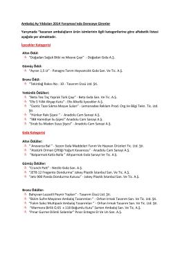 Kazananların tam listesi için tıklayın (PDF: 237 KB).
