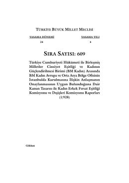 609 - Türkiye Büyük Millet Meclisi