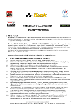 ROTAX MAX CHALLENGE 2014 SPORTİF YÖNETMELİK