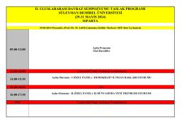 29-31 mayıs 2014 - Uluslararası Davraz Kongresi