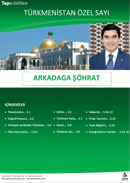 türkmenistan özel sayı arkadaga şöhrat