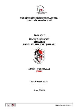 Final(Ulusal Egemenlik Kupası) Yarışma Programı