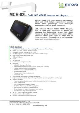 MCR-02L Grafik LCD MIFARE temassız kart okuyucu