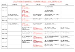 Spor Yöneticiliği Ders Programı