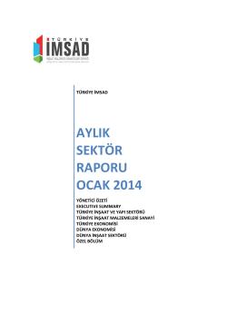 aylık sektör raporu ocak 2014