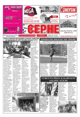 16.04.2014 Tarihli Cephe Gazetesi