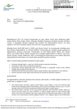 Saha Çalışma Yazısı (20.02.2014 tarih ve 2093 sayılı yazı)