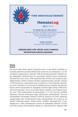 00 yeni.indd - Türk Hematoloji Derneği