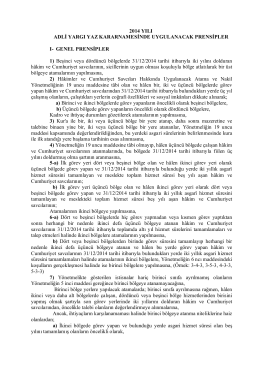 EK 1 - Hâkimler ve Savcılar Yüksek Kurulu