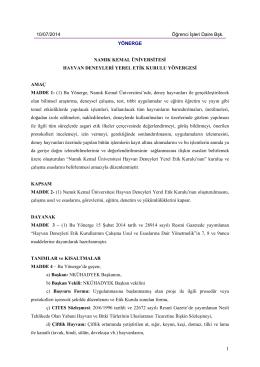 10/07/2014 Öğrenci İşleri Daire Bşk. YÖNERGE - E