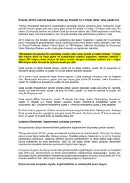2014-Ocak-Ayi--TIM-Verileri-Baskan-Konusmasi