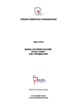 2014 Bursa Atlıspor Kulübü Kapalı Manej Kış Yarışmaları 01
