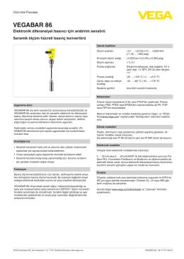 Kullanim Kilavuzu - VEGABAR 86 - Elektronik diferansiyel basıncı