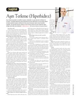 """""""Aşırı Terleme (Hiperhidroz)"""", Cumhuriyet"""