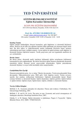 İzlence (PDF) - TED Üniversitesi