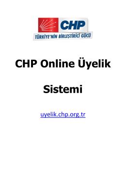 Kullanım Kılavuzu - CHP - Online Üyelik Sistemi