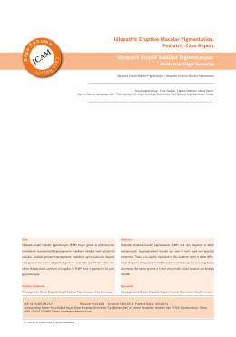 Idiopathic Eruptive Macular Pigmentation
