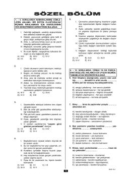 dgs-1 sözel bölüm
