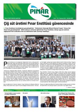 Çiğ süt üretimi Pınar Enstitüsü güvencesinde