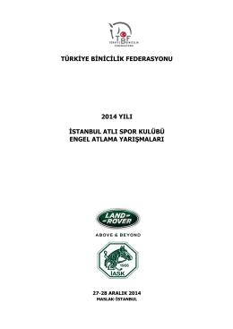 2014 istanbul atlı spor klübü engel atlama yarışmaları