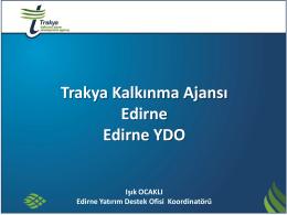 EKONOMİK YAPI - Edirne Yatırım Destek Ofisi