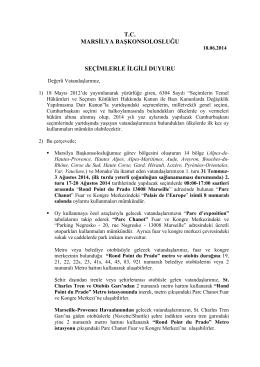 CUMHURBAŞKANLIĞI SEÇİMLERİ DUYURUSU pdf