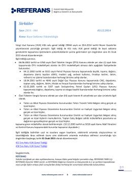 2014-066 Kayıt Saklama Yükümlülüğü