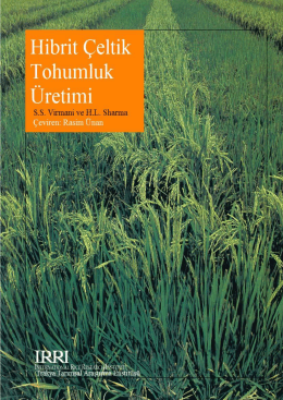 1 Hibrit Çeltik Tohumluk Üretimi - Books