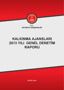 Kalkınma Ajansları 2013 Yılı Genel Denetim Raporu