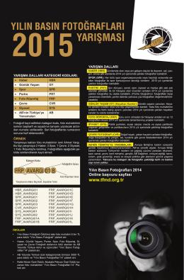 Yarışma Kategorileri - TFMD | Türkiye Foto Muhabirleri Derneği