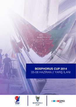BOSPHORUS CUP 2014 05-08 HAZİRAN // YARIŞ İLANI