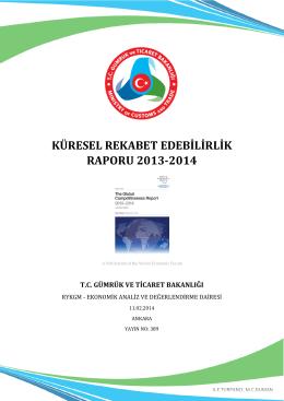 küresel rekabet edebilirlik raporu 2013-2014