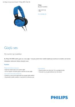 Product Leaflet: DJ monitör tipi Mavi Baş bantlı kulaklıklar