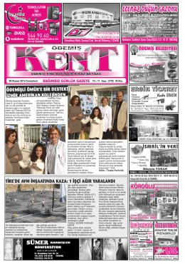 08-11-2014 Tarihli Kent Gazetesi