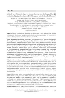 pistacia vera bitkisinin olgun ve ham perikarplarının fitokimyasal