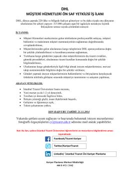 müşteri hizmetleri ön saf yetkilisi iş ilanı