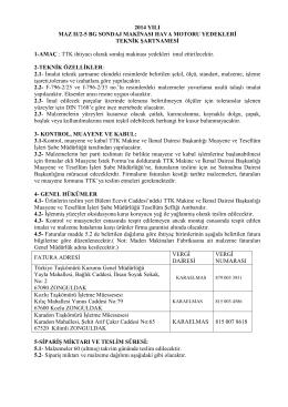 2014 YILI MAZ II/2-5 BG SONDAJ MAKİNASI HAVA MOTORU